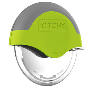 1. Kitchy Green Pizza Cutter Wheel