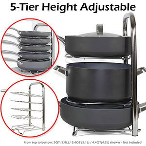 2. BetterThingHome Heavy-Duty Pot and Pan Organizer