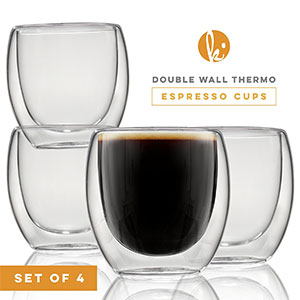 2. Kitchables Glass Coffee Espresso Cups