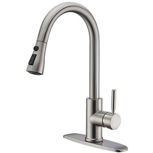 1. WEWE Single Lever Stainless Steel Kitchen Sink Faucet