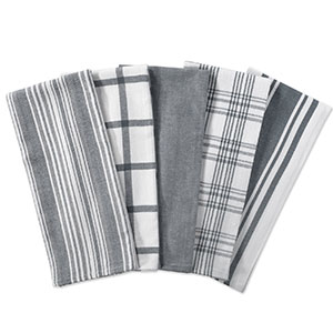 10. DII Set of 5 Kitchen Dish Towels