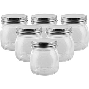 3. Golden Spoon 10 oz Mason Jars (Set of 6)