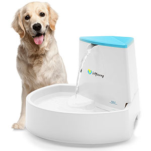 10. isYoung Automatic Water Pet Fountain