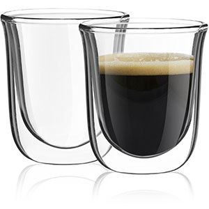 6. JoyJolt Javaah Set of Espresso Glasses