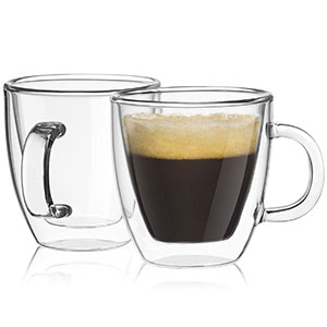 1. JoyJolt Savor Glass Espresso Mugs
