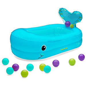 6. Infantino Whale Bubble Bathtub with Ball Set