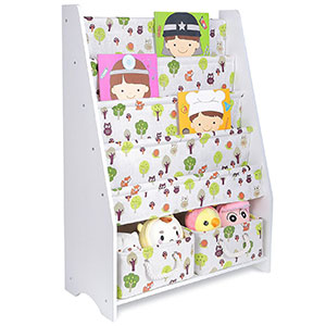 4. FUNKAM COOFOK Kids Bookshelf (White)