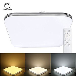 4. B-right 20W LED Flush Mount Ceiling Light