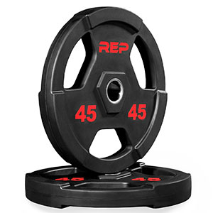 10. Rep Fitness Rubber Coated Olympic Plates