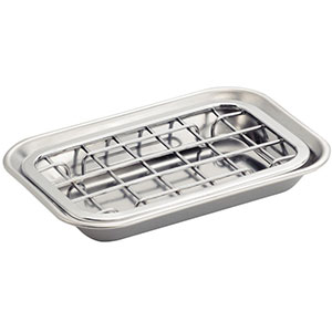 2. InterDesign Polished Stainless Steel Soap Dish