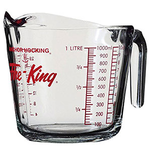 6. Anchor Hocking Fire King Glass Measuring Cup (77897)