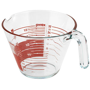 8. Pyrex 4-Cup Glass Measuring Cup