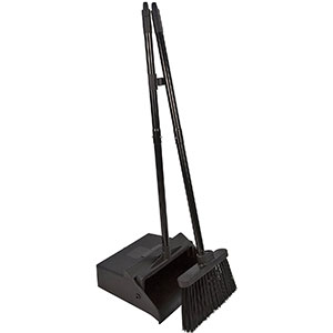 1. Carlisle Black 36141503 Dustpan & Broom Combo