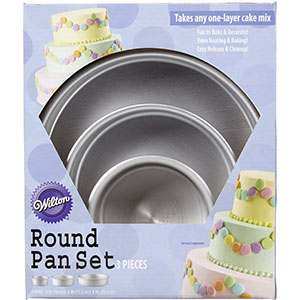 2. Wilton 2105-0472 Round Cake Pan Set