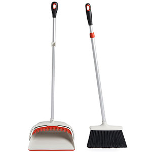 3. OXO Sweep Set with Extendable Broom