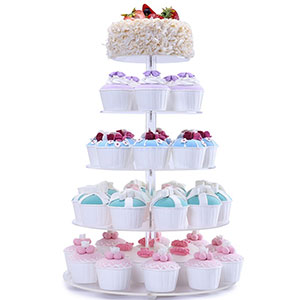 6. BonNoces 5-Tier Cupcake Tower Stand