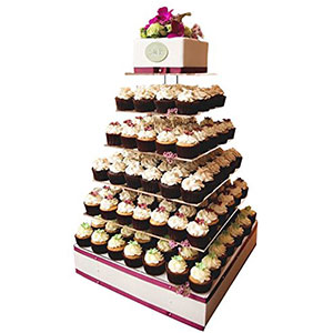 8. Jusalpha 7-Tier Cupcake Tower Stand
