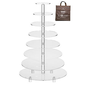 4. Jusalpha 8-Tier Cupcake Stand Tower