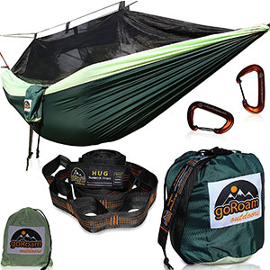 8. goRoam Outdoors Hammock with Mosquito Net