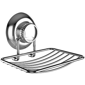 10. Gecko-Loc Stainless Steel Soap Dish Holder