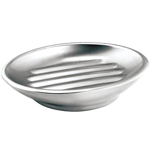 8. InterDesign Stainless Steel Soap Dish (Forma Bar)