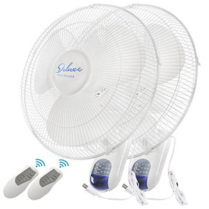 2. Simple Deluxe 16-inch Wall Mount Fan