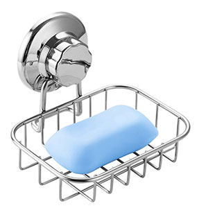 3. SANNO Stainless Steel Soap Sponge Holder