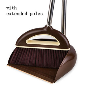 7. Jingyuan Broom and Dustpan with Handle (Coffee)
