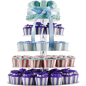 5. DYCacrlic 5-Tier Cupcake Tower Stand