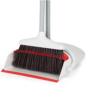 "8. LiKe Dust Pan and Broom with 36"" Long Handle"