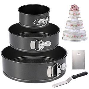1. Hiware Springform Cheesecake Pan (Set of 3)