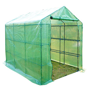 6. Outsunny Outdoor Portable Walk-in Greenhouse