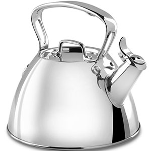 5. All-Clad Silver Stainless Steel Tea Kettle