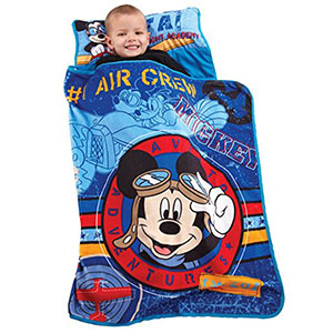 6. Disney Mickey's Toddler Nap Mat (Flight Academy)
