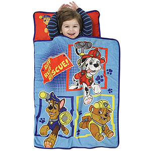 7. Nickelodeon Blue Paw Patrol Toddler Nap Mat