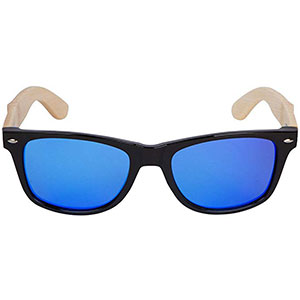 8. Woodies Bamboo Wood Sunglasses with Mirror Lens
