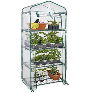 1. Best Choice Products 4-Tier Mini Greenhouse