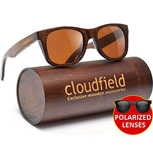 a6000b9daf1 1. cloudfield Wood Sunglasses Polarized for Men and Women