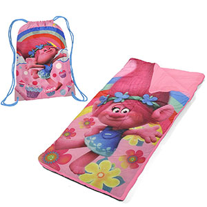 3. DreamWorks Trolls Drawstring Carry Bag with Nap Mat