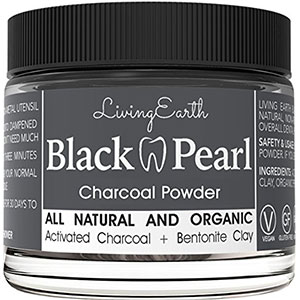 6. Living Earth Black Pearl Activated Charcoal