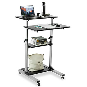10. Mount-It! Mobile Stand Up Adjustable Rolling Cart