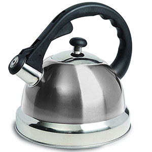 7. Mr. Coffee Stainless Steel Whistling Tea Kettle (108075.01)
