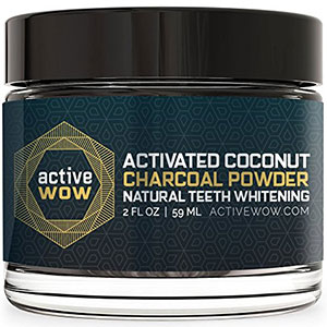 1. Active Wow Teeth Whitening Charcoal Powder Natural