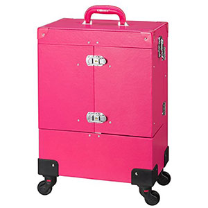 9. Ollieroo Lockable PU Rolling Makeup Train Case