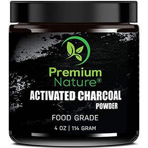 10. Premium Nature Activated Charcoal Teeth Whitening Powder