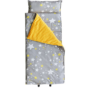 10. Hi Sprout Stars Kids Nap Mat – Minky Dot & Cotton