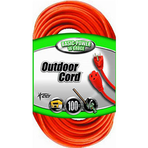 1. Coleman Cable 16/3 Vinyl Outdoor Extension Cord
