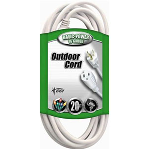 9. Coleman Cable Outdoor Extension Cord