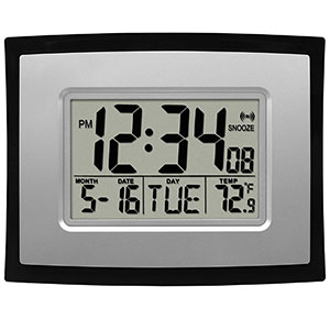 2. La Crosse Technology Digital Wall Clock (WT-8002U)