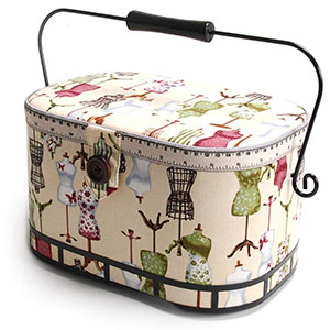 2. Dritz St. Jane Oval Sewing Basket